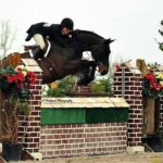 Sarah Mechlin riding Yes Indeed hunter