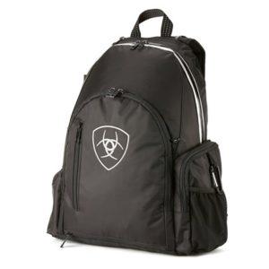 black equestrian backpack