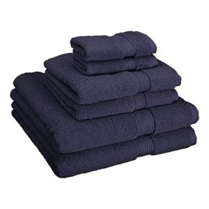 Navy luxury bath towels