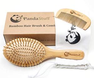 Bamboo hair brush set