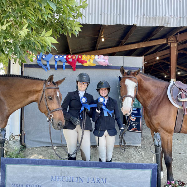 Sutton Suelthaus and Emma Mechlin at the horse show.